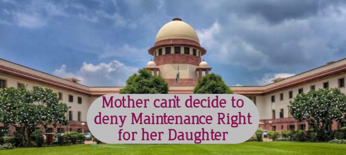 Maintenance Rights of Child