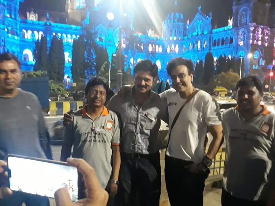 Amit Deshpande, Karan Oberoi at UNESCO World Heritage site CSMT building at Mumbai